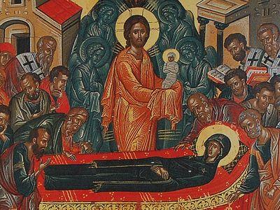 Всенощное бдение в Сретенском монастыре накануне Недели 10-й по Пятидесятнице и Успения Божией Матери