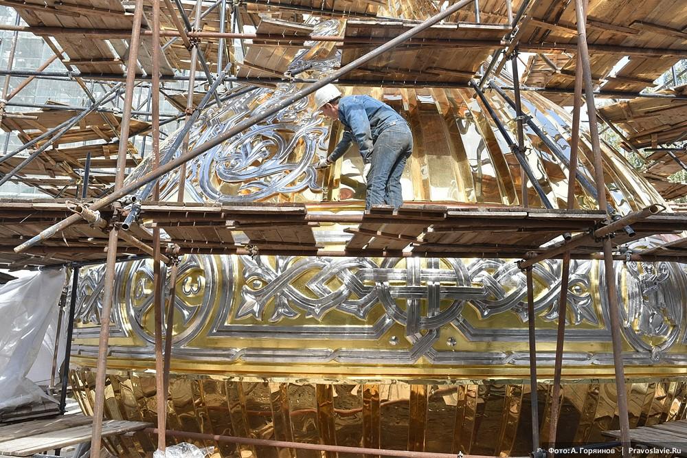 Завершение работ над украшением главного купола