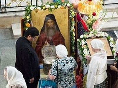 Around 150 000 people have venerated relics of st silouan for 85 degrees tanning salon