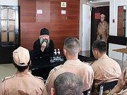 Епископ Душанбинский Питирим побеседовал с военнослужащими о послушании