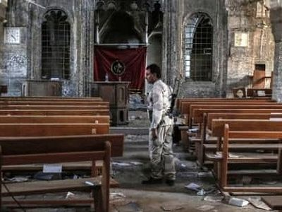 Near Mosul, church bells ring out in a Christian town freed from terror