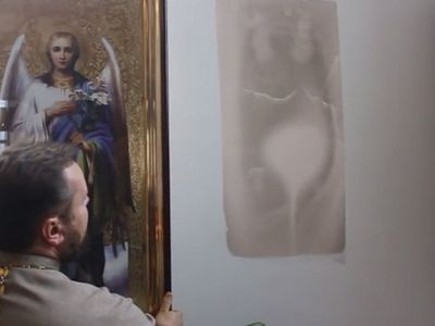 Icons miraculously appear on walls of Omsk church