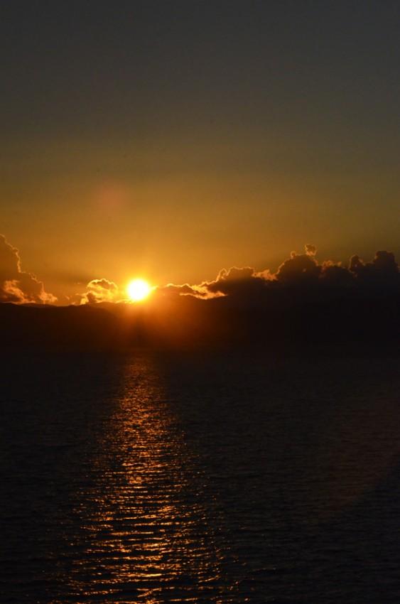 Закат на Охридском озере