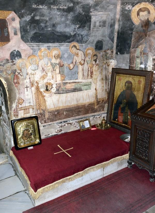 Место погребения св. Наума Охридского