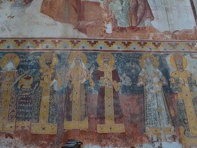 Heavy rain damages frescos at Georgia's historic Gelati Monastery