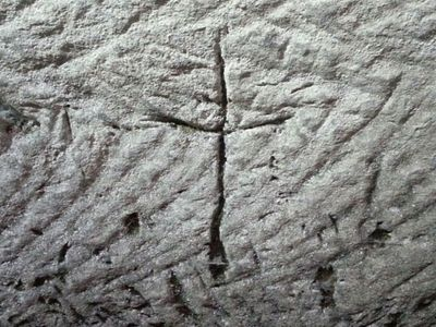 Rare Christian Cross And Menorah Engraving From Time Of Christ Discovered In Israel