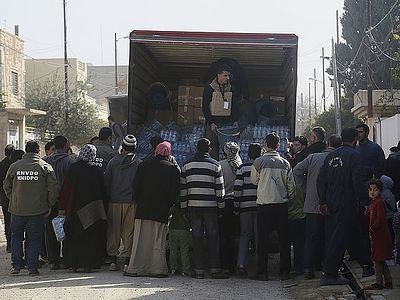 3,500 Syrians receive humanitarian aid from Russia in one day