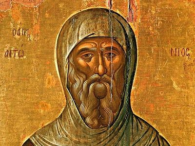 St. Anthony the Great and God's Help in the Struggle with Evil