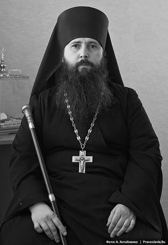 The monastery's father superior, Abbot Varnava