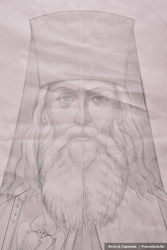 Святитель Игнатий (Брянчанинов). Эскиз иконы