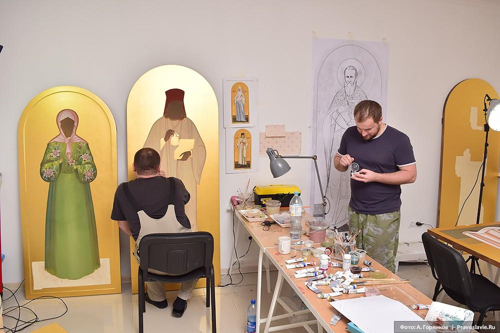 Работа над иконами блаженной Матроны Московской и святителя Луки Крымского