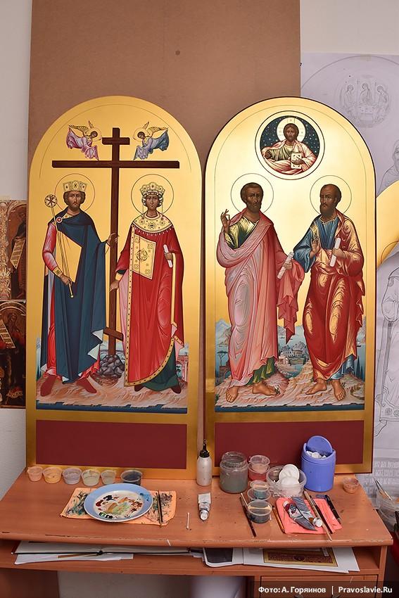Иконы равноапостольных Константина и Елены, апостолов Петра и Павла