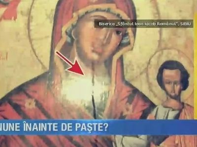 Icon of Mother of God in Sibiu, Romania begins weeping (+ VIDEO)