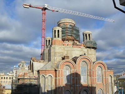 Строительство нового храма. год 2015-й
