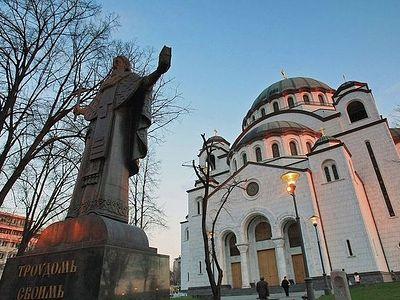 Мозаика из России для храма-символа Белграда прибыла в Сербию