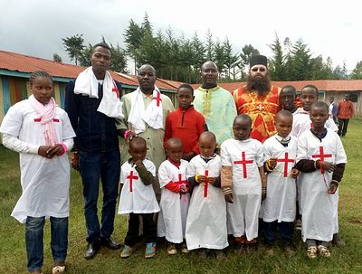 "11 baptized at Kenyan orphanage during visit of ""Orthodox Africa"" charity director"