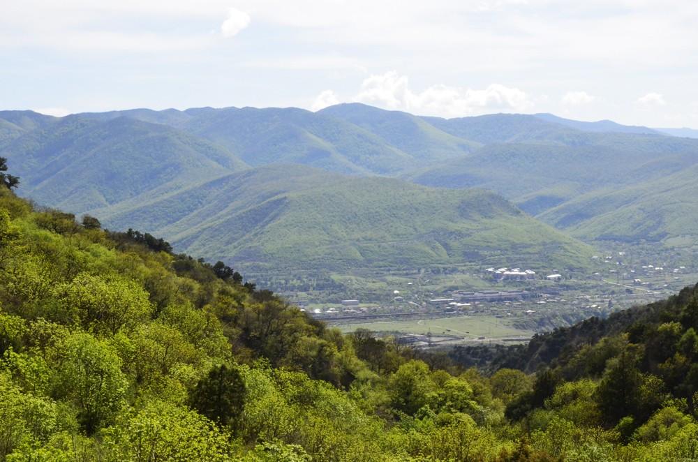 Вид из Шио-Мгвимского монастыря