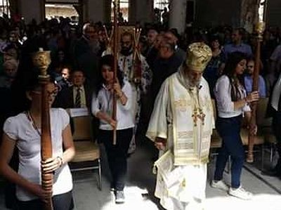 Orthodox services celebrated in Syrian town of Al-Zabadani for first time in 6 years