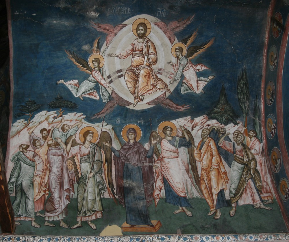 Вознесение Господне. Фреска