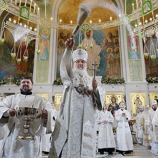 The Service of the Consecration of the Church of the Resurrection of Christ and the New Martyrs and Confessors of the Russian Church in Moscow's Sretensky Monastery