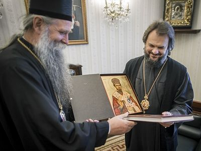St. Petersburg Theological Academy given icon of its holy graduate—St. Mardarije