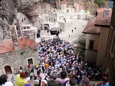Turkey again bars Pat. Bartholomew from serving Dormition Liturgy in Panagia Sumela Monastery