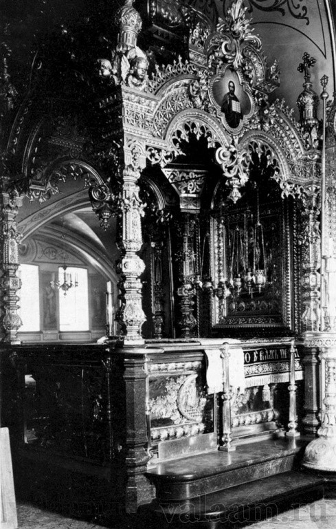 The reliquary of Holy Wonderworker, Sts. Sergius and Herman of Valaam.