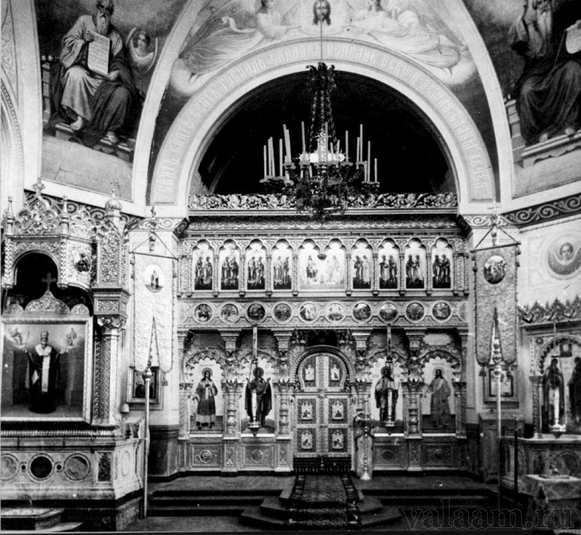 The interior of the church in the St. Nicholas Skete.