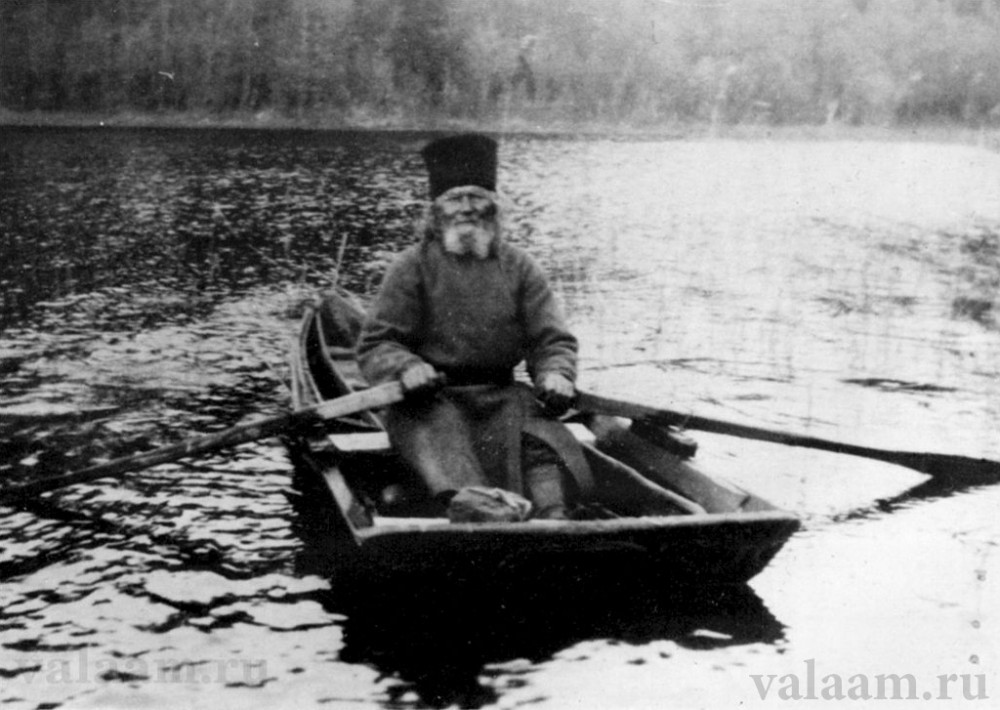 Monk Moses on a boat.