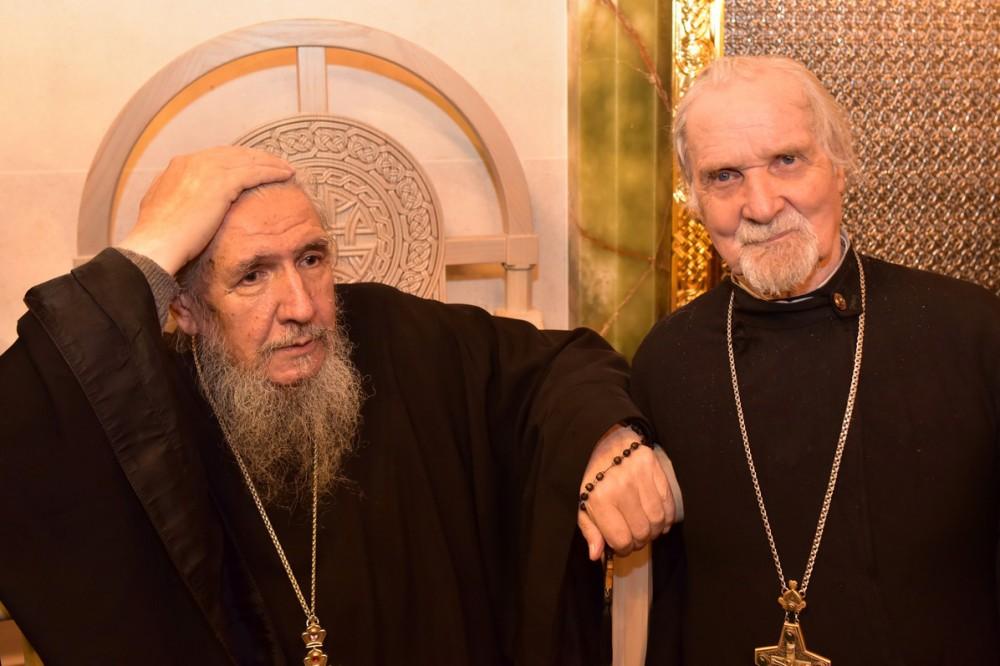 Архимандрит Антоний (Гулиашвили) и протоиерей Евгений Пелешев