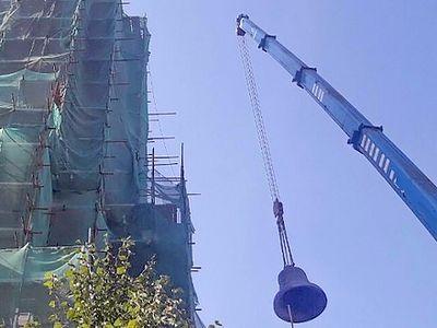 17.5 ton bell installed in Novospassky Monastery bell tower