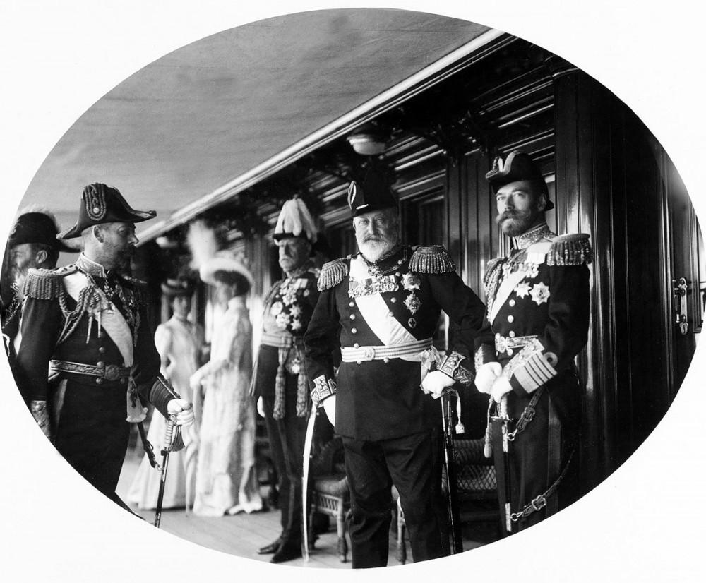 Император Николай II и Король Великобритании Эдуард VII.