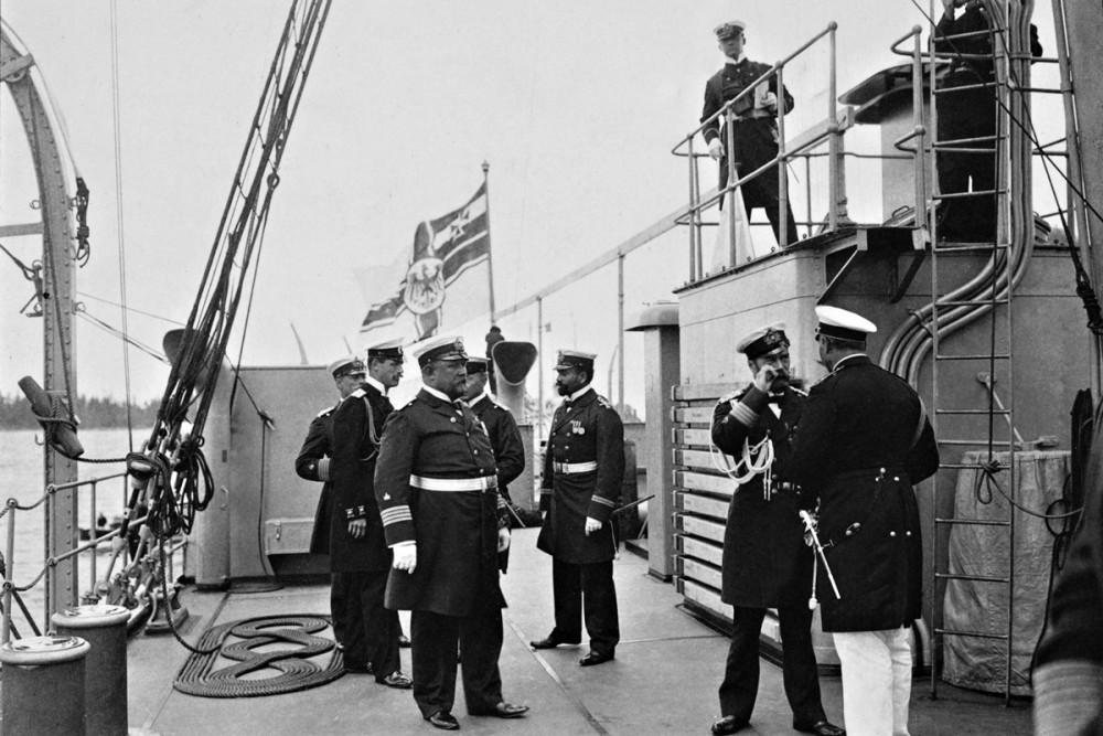 Встреча с кайзером Вильгельмом II в Бьёорки, 1905 г.