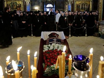 Funeral of beloved elder Archimandrite Naum held at Trinity-St. Sergius Lavra