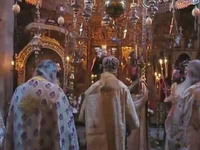 VIDEO: The Feast of the She Who is Quick to Hear Icon of the Mother of God at Dochariou Monastery
