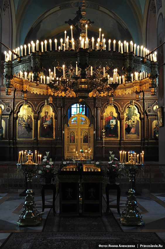 Iconostasis in the Holy Trinity Cathedral in Jerusalem.