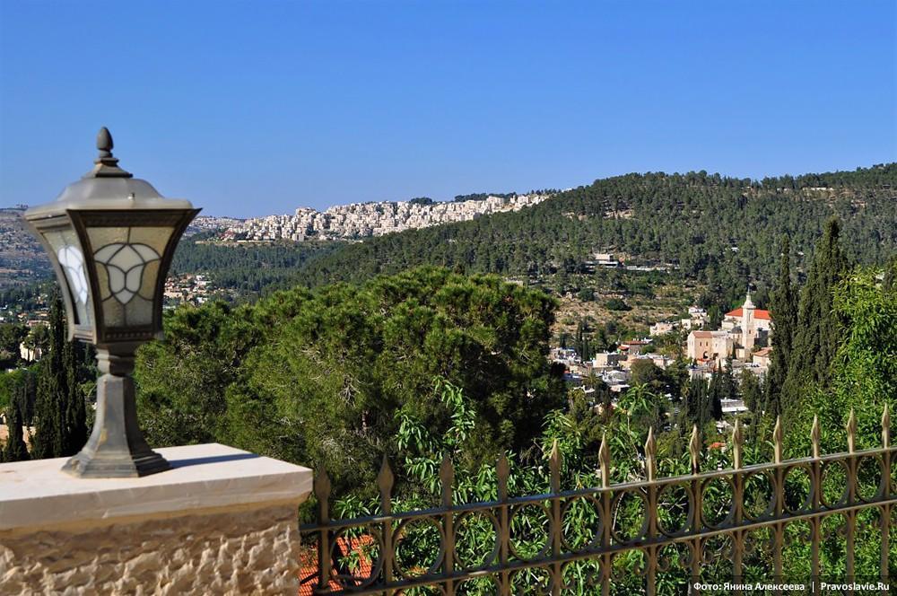 Горненский женский монастырь в Эйн-Карем. Вид на Иерусалим из Горненского монастыря