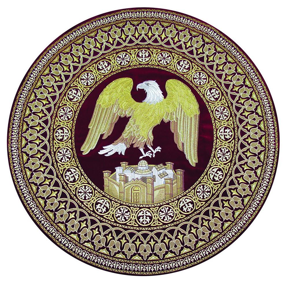 The Heavenly City. An eagle rug