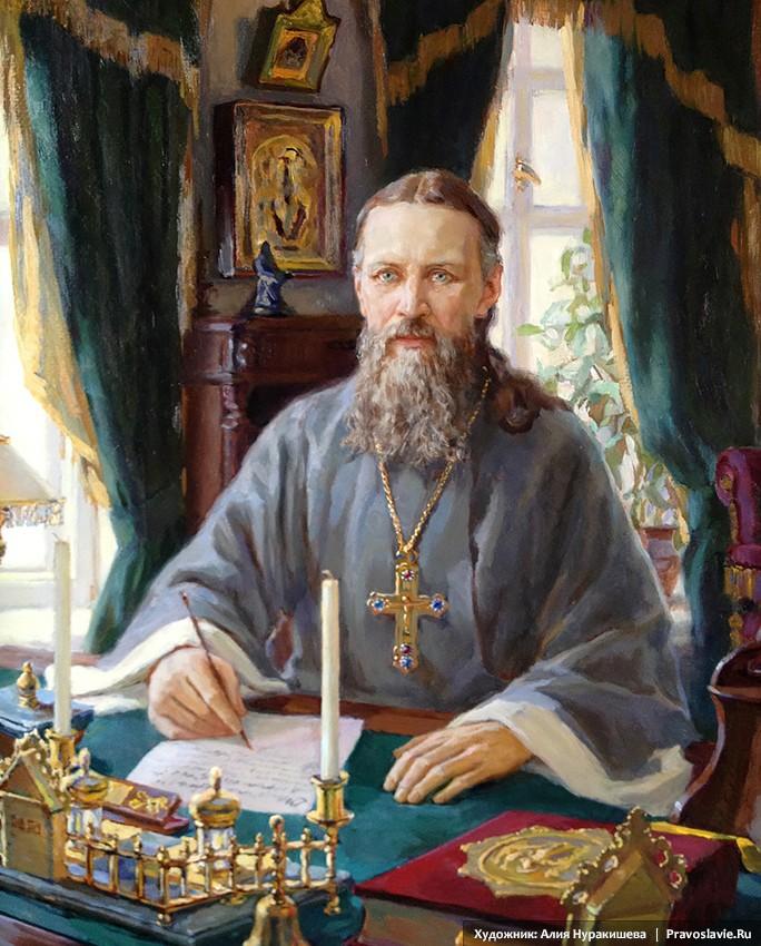 Праведный Иоанн Кронштадский в домашнем кабинете