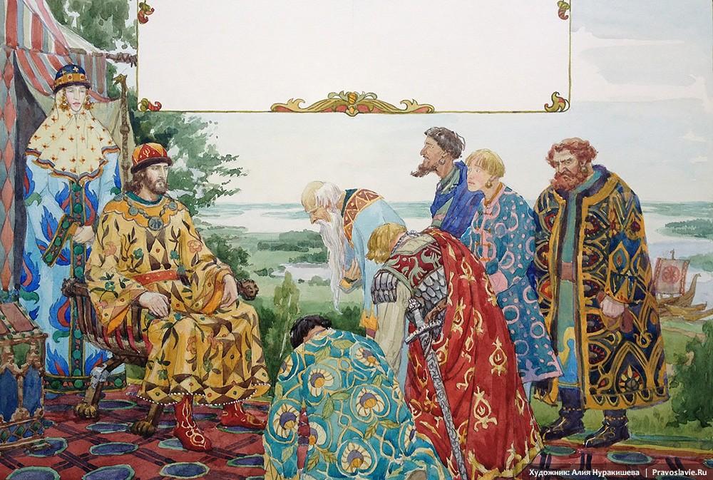 Бояре просят князя Петра вернуться в Муром