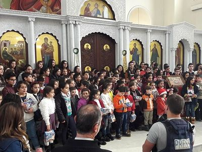 Orthodox children in Latakia, Syria receive Christmas gifts from Moscow