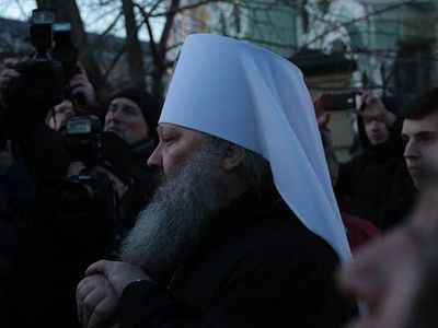 "Abbot of the Kiev-Caves Lavra: ""The extremists did not succeed in disrupting the Nativity services."""