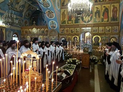 Memorial service held at Optina for departed abbot Fr. Benedict; Patriarch offers condolences