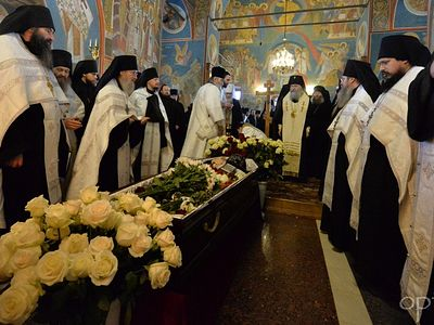 Funeral and burial of Abbot Archimandrite Benedict celebrated at Optina