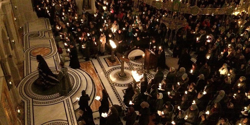 Вечернее богослужение в Сретенском монастыре во вторник первой седмицы Великого поста / Православие.Ru