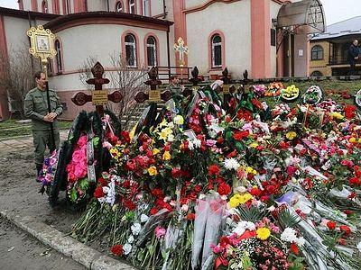 На 9-й день после трагедии в Кизляре в Свято-Георгиевском соборе города совершена панихида по погибшим