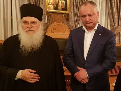 "Pres. Dodon of Moldova arrives on Athos to establish internat'l ""Friends of Orthodoxy"""