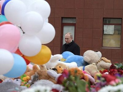 Day of mourning declared in Russia in honor of victims of fire in Kemerovo