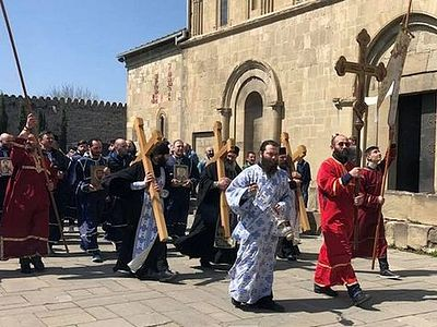 Ancient Georgian capital of Mtskheta blessed on Annunciation-Holy Saturday