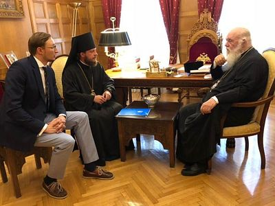 Head of Greek Church meets with Ukrainian hierarch on autocephaly issue